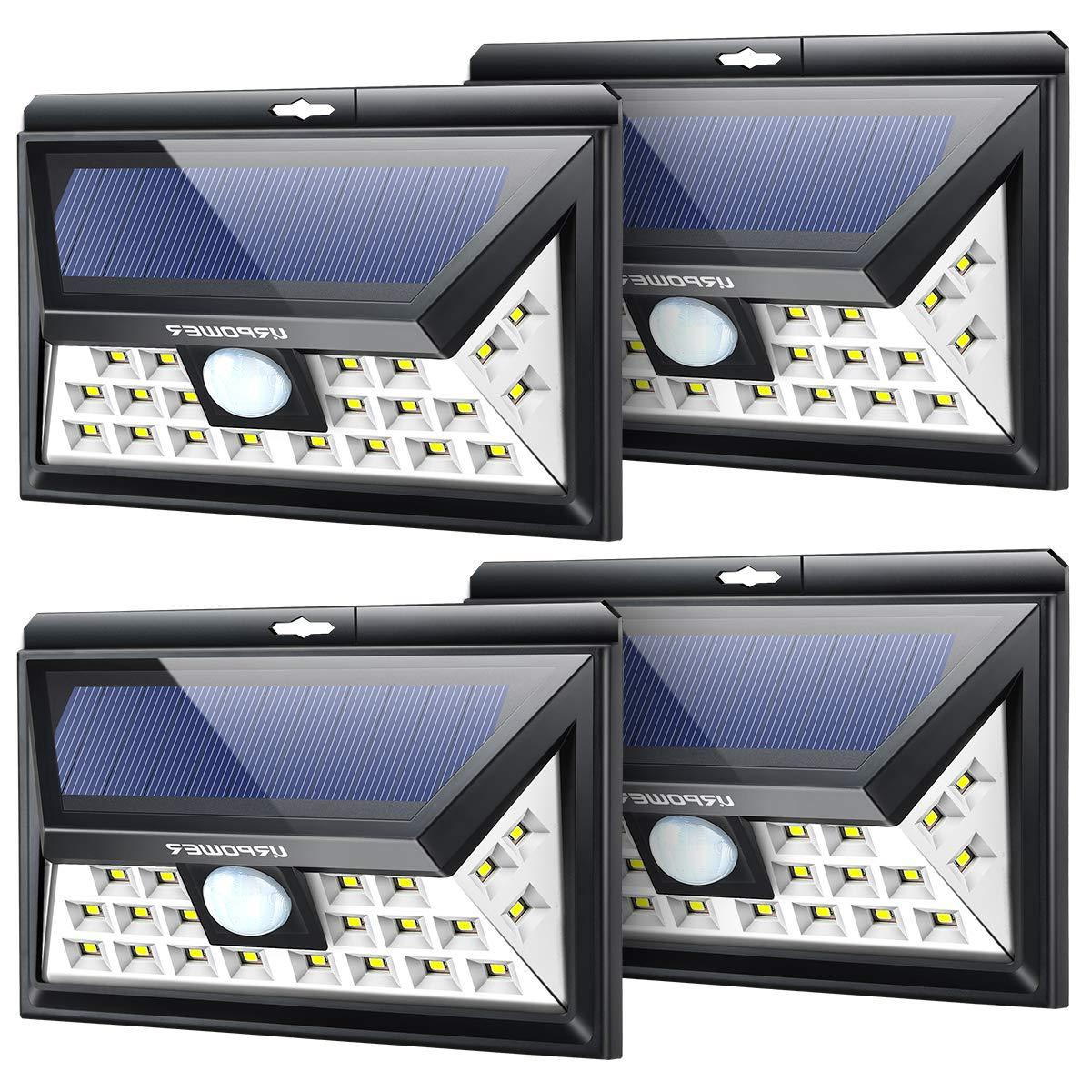 URPOWER Solar Lights Outdoor, Upgraded 3 Modes Wide Angle So