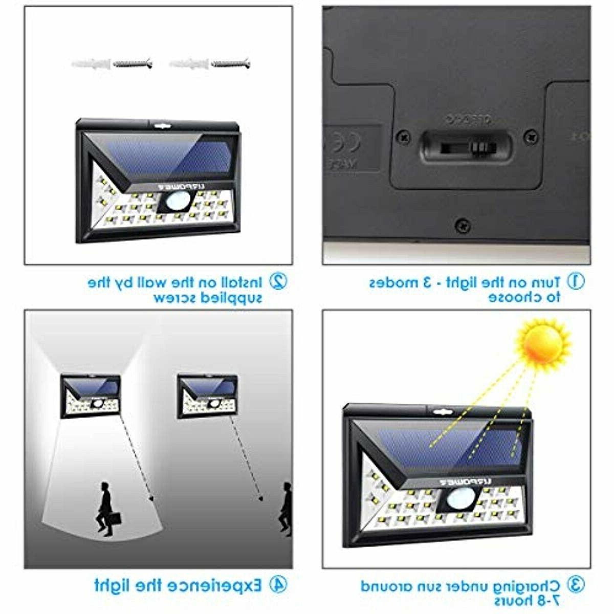 URPOWER Upgraded Angle Solar Lights