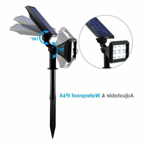 URPOWER Solar Lights Upgraded Cool White 2-in-1 Waterproof Solar