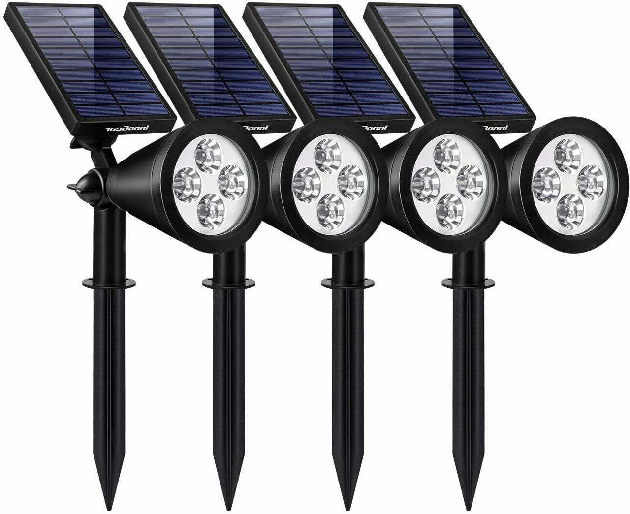 solar lights outdoor upgraded waterproof solar powered