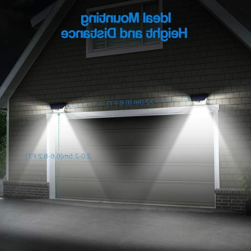 Solar Lights Outdoor Wide Motion Sensor