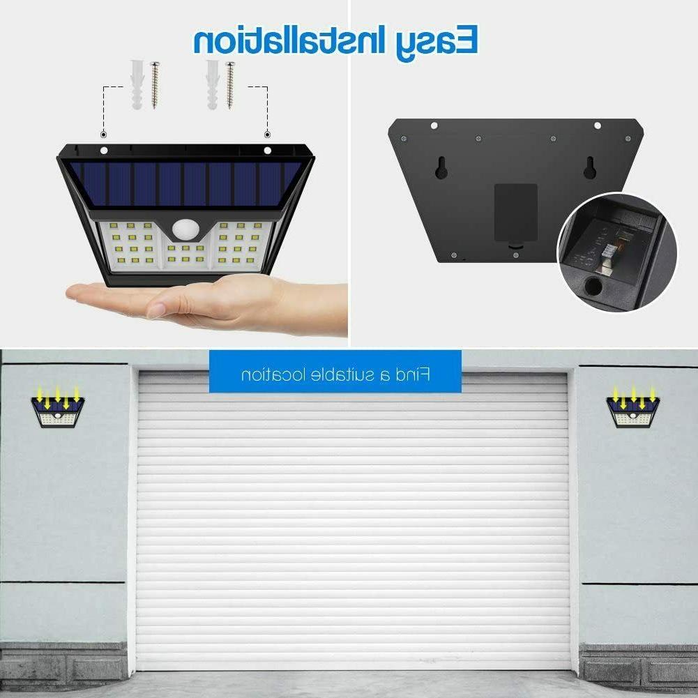 Solar Lights Outdoor Wide Lighting Motion