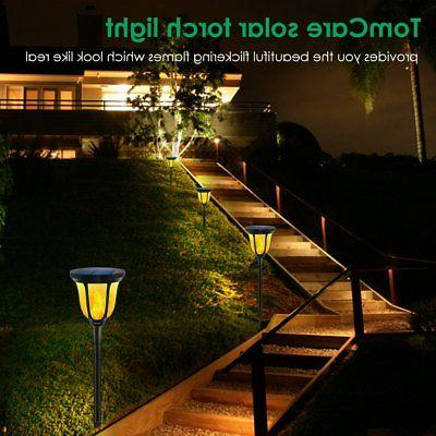 TomCare Solar Solar Torches Waterproof Dancing Flame