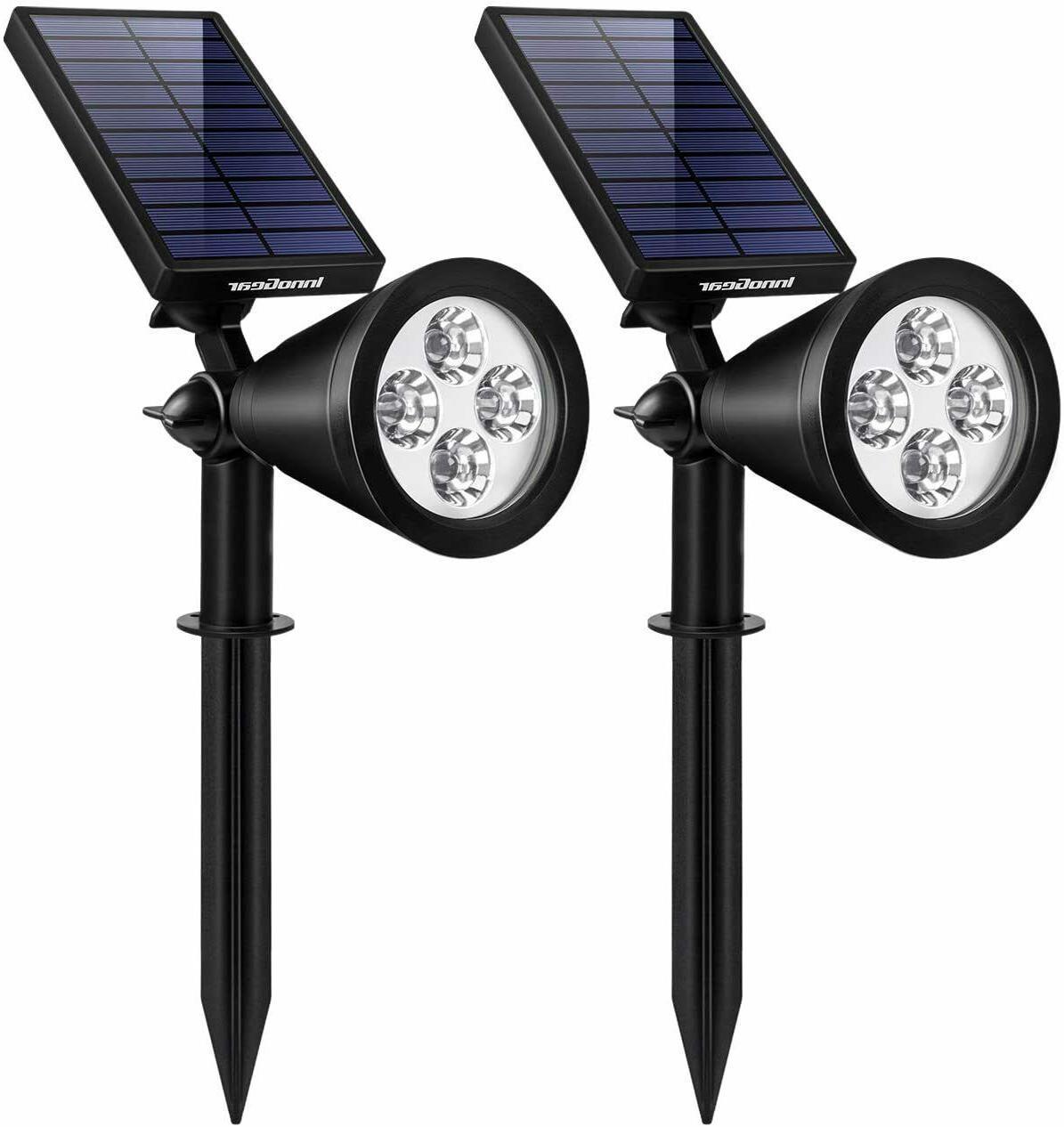 solar lights spotlights garden 2 in 1
