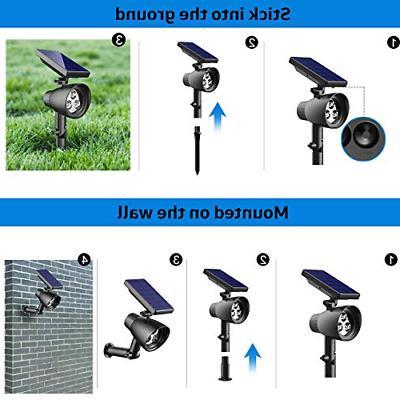 InnoGear Solar Lights 2-in-1 Waterproof Solar Spotlight Wall Auto