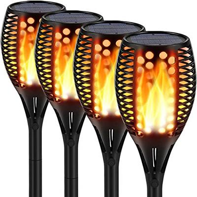 solar lights upgraded waterproof flickering flames torches