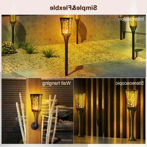 2 LED Waterproof Tiki Torch Flame Lamp