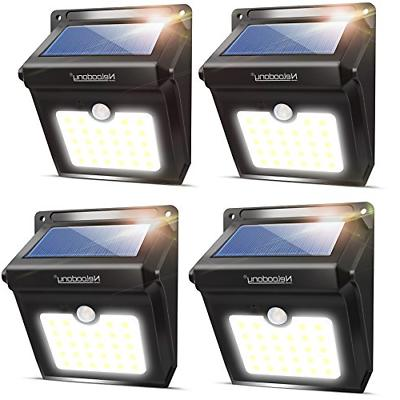 Neloodony Solar Lights Outdoor, Wireless 28 LED Motion Senso