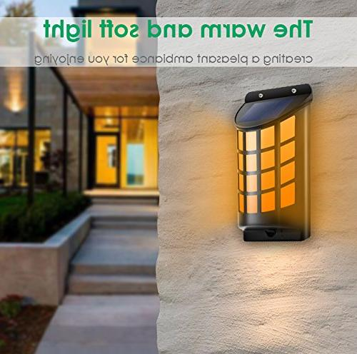 TomCare Flickering Wall Lights Outdoor Dark Sensor On/Off Mounted Design for Door Driveway