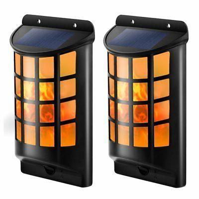 solar lights waterproof flickering flames