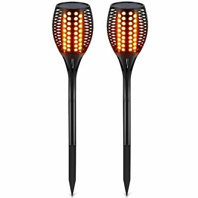 TomCare Solar Lights, Waterproof Flickering Flames Torches L