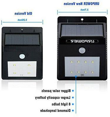 4 Solar Lights Wireless Waterproof Motion Outdoor