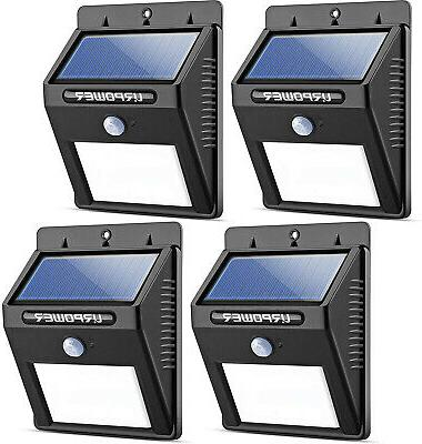 4 pack solar lights wireless waterproof motion