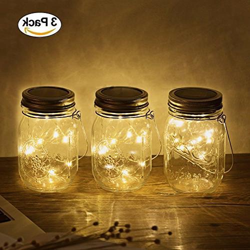 solar mason jar lights