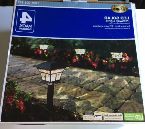 solar mediterranean bronze outdoor led landscape path