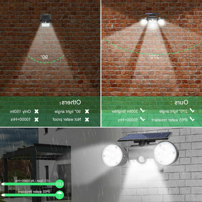 Solar Sensor Detector Home Security Light Guardian Torch