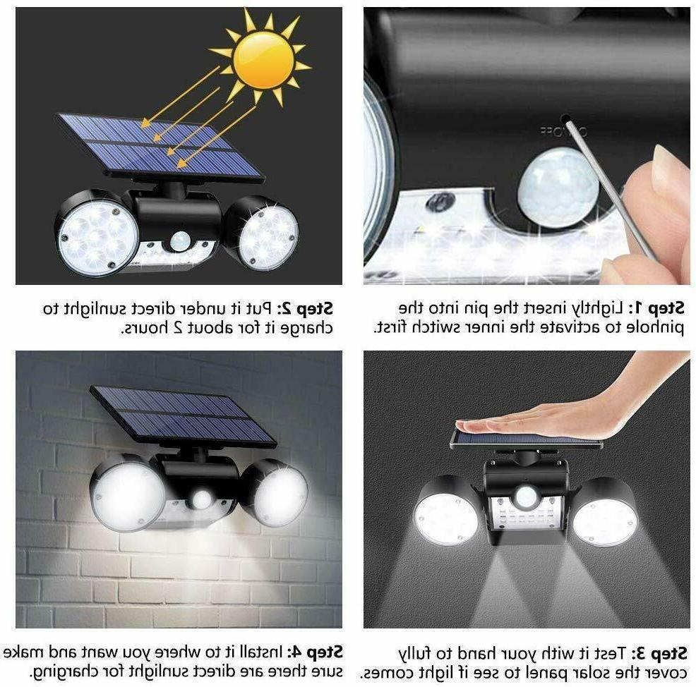 Solar Motion Sensor Home Security Guardian Spotlight