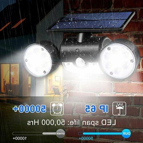 Solar Motion Detector Home Security Light Guardian Torch Spotlight