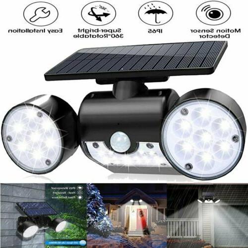 solar motion sensor detector home security light