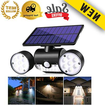 solar motion sensor detector home security light
