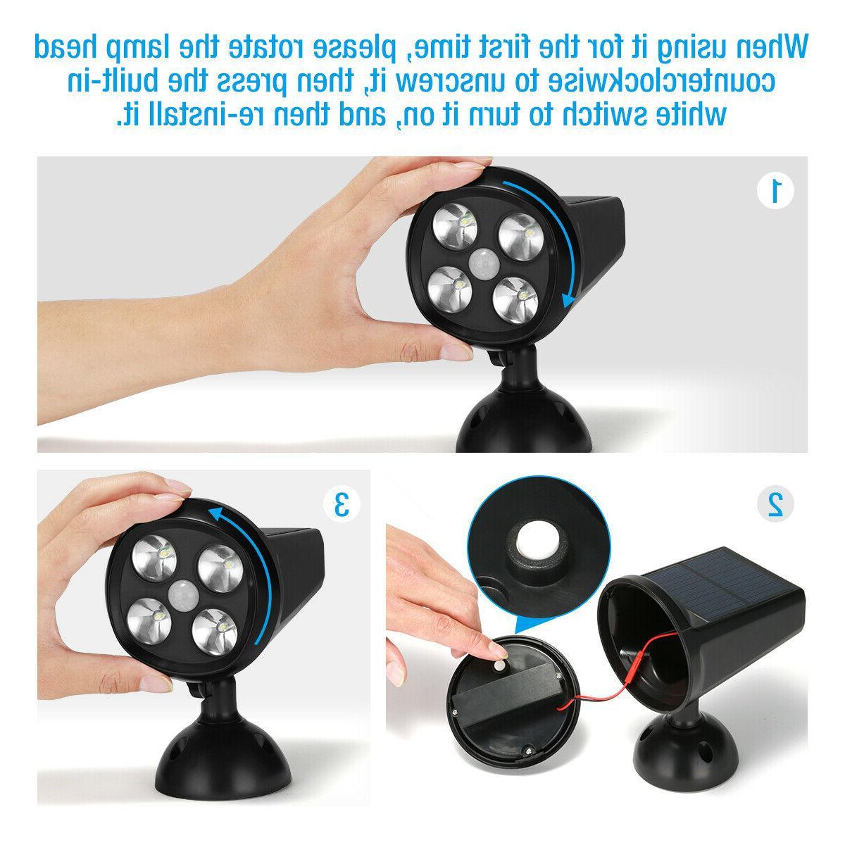 Solar Motion Sensor Security Torch