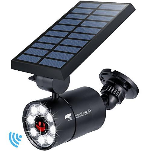 solar motion sensor light aluminum