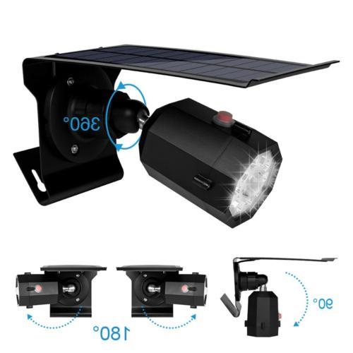 Solar Motion Sensor Outdoor 500Lumens LED Spotlight 5-Watt Solar Lights