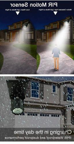 Solar Motion Sensor Outdoor 500Lumens Spotlight 5-Watt