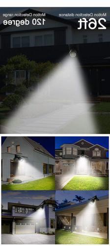 Solar Motion Sensor Outdoor 500Lumens LED Spotlight