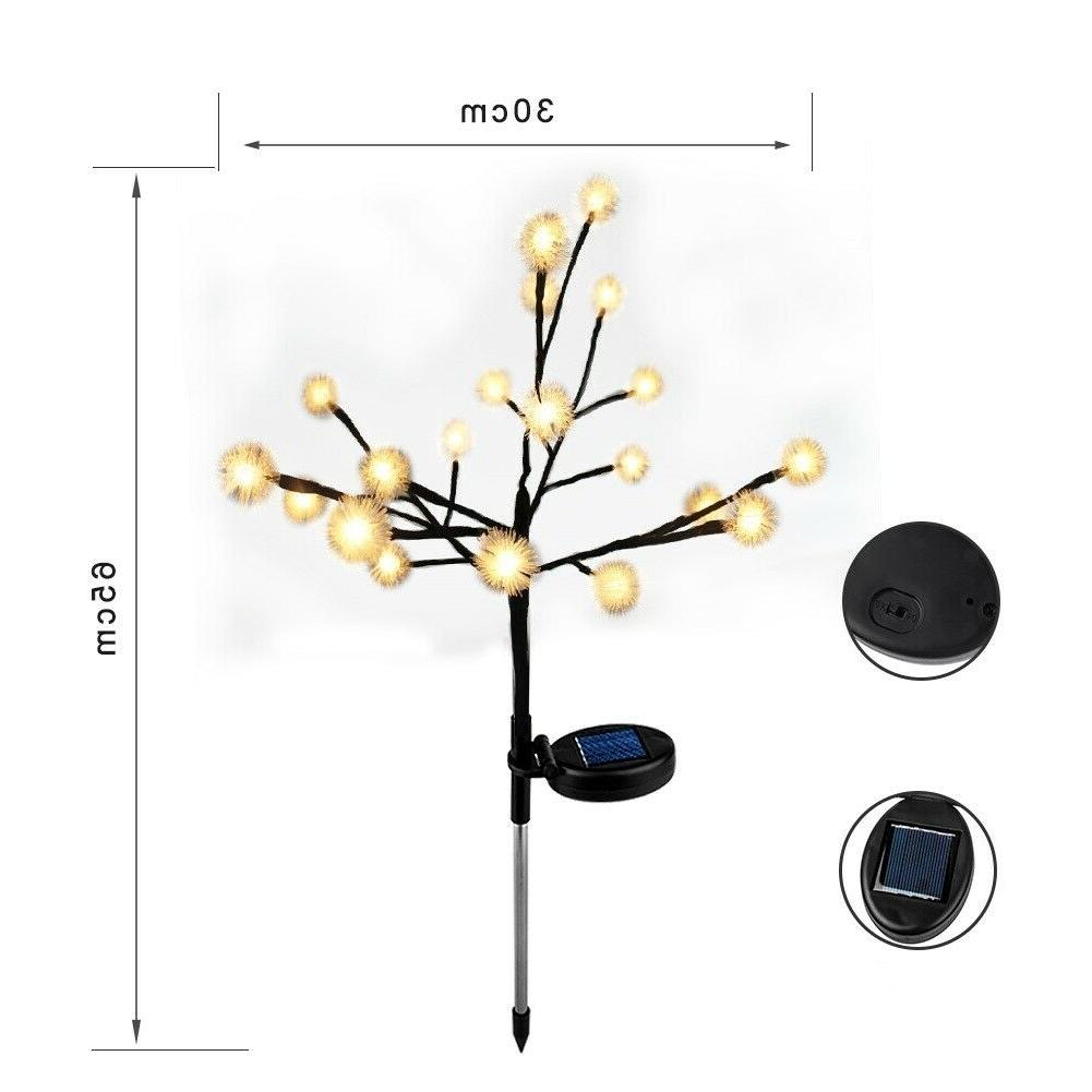 Solar Lights Orchid Flowers Yard Outdoor Patio