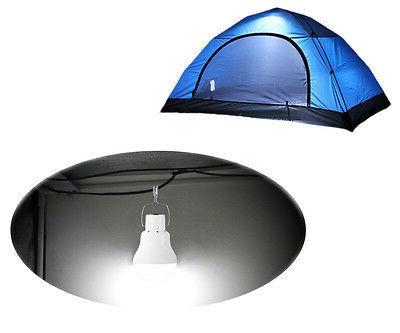 Solar Panel Bulb Lamp Portable Camp Fishing Hook