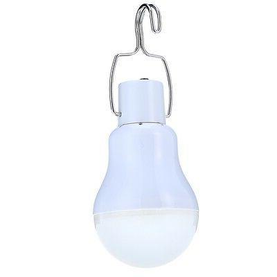 Solar Panel Bulb Lamp Portable Outdoor Camp Fishing Hook