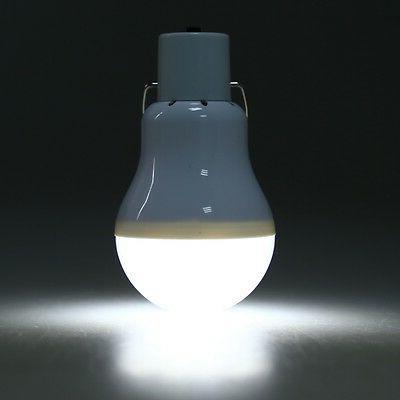 Solar Bulb Lamp Portable Camp Tent Light Hook