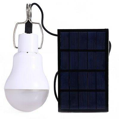 solar panel powered led bulb lamp portable
