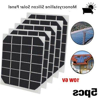 Module Solar panels Charger Light Black Silicon Tools Spare