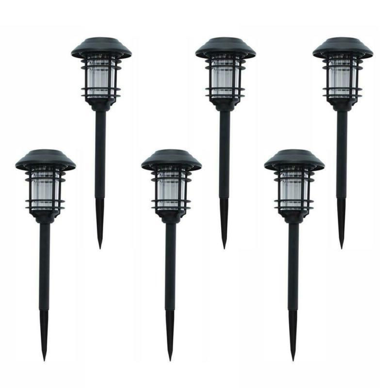 led pathway outdoor light 6 pack black