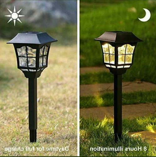 Solar Lights Garden Lights Outdoor Solar Landscape 6 Pack Lumens