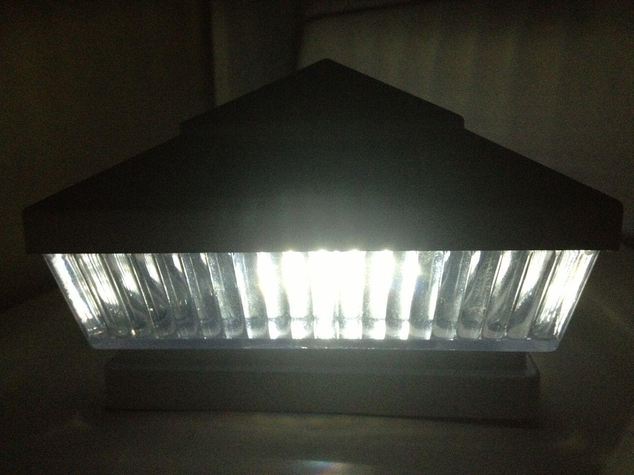 Solar Post Cap Fence Lights 5x5 6x6 10-Pack