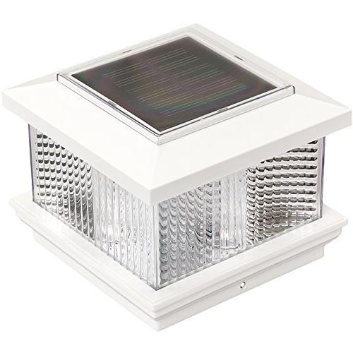 "GreenLighting Solar LED Post Cap Light for 5"" x 5"" PVC Post"