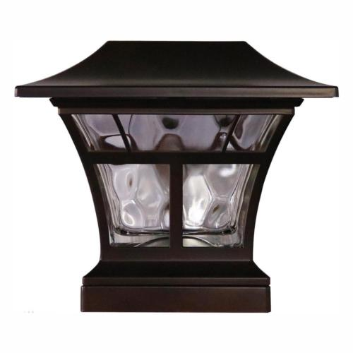"SOLAR LED DECK POST CAP LIGHT 4""x4"" 6""x6"" Outdoor Garden Lig"