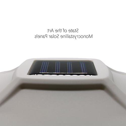 Davinci Solar Post - Post Light or Patio Powered LED Lighting, 4x4 Posts, Pearl