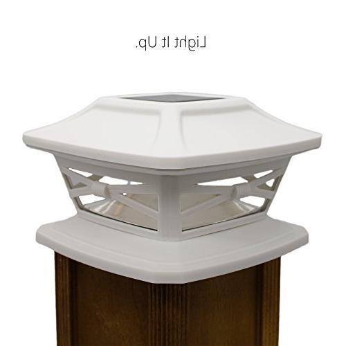 Davinci Solar - Outdoor Light or Patio - Solar Powered Caps, Warm LED 4x4 or Pearl
