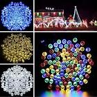 Solar Powered 72FT 200 LED String Fairy Lights Outdoor Xmas
