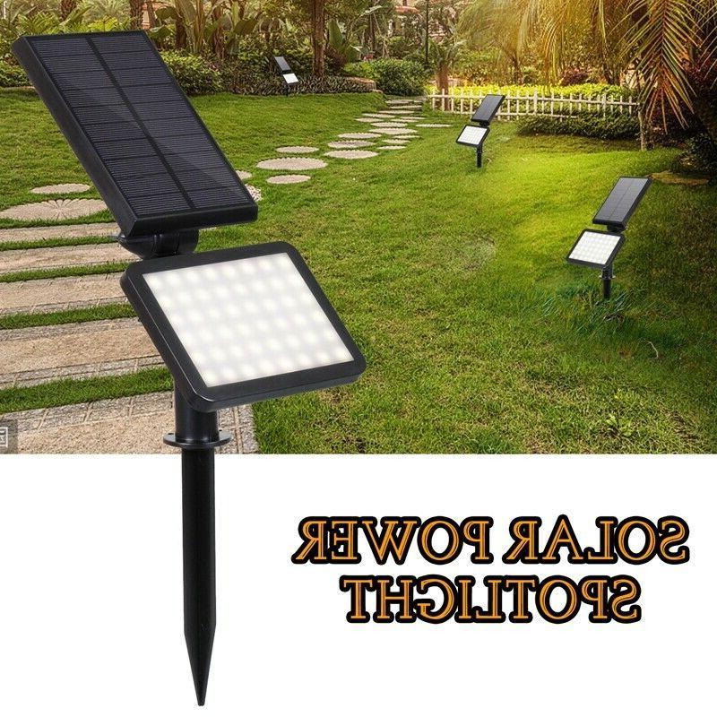 solar power 48 led spotlight landscape lights