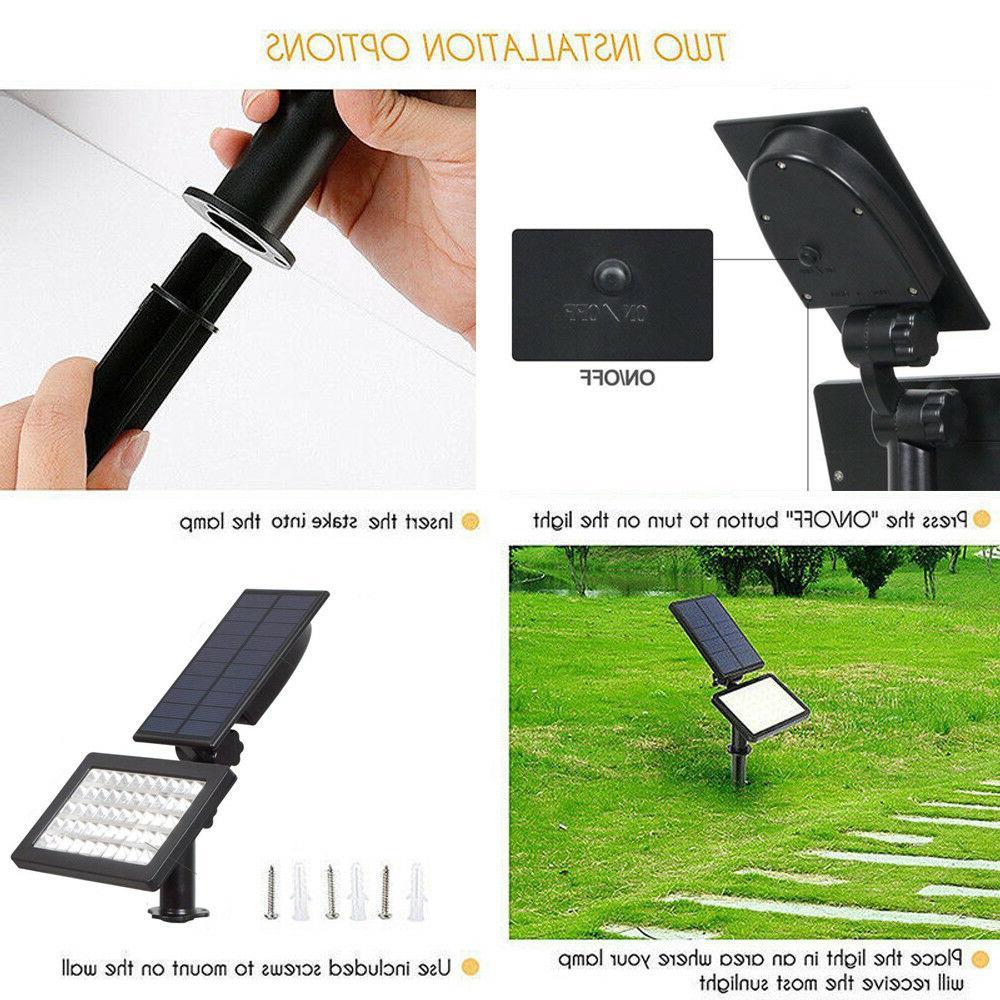 Solar 48-LED Spotlight Landscape Pathway Lamp