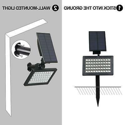 Solar 50-LED Landscape Outdoor Garden Pathway Lamp