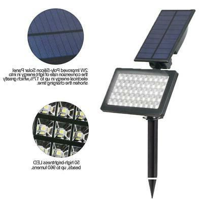 Solar Power 50-LED Landscape Pathway Lamp