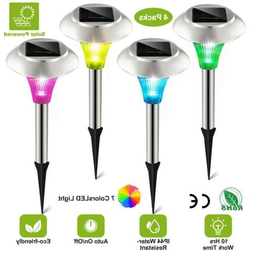 Solar Power Color Changing LED Lights Outdoor Garden Lawn St