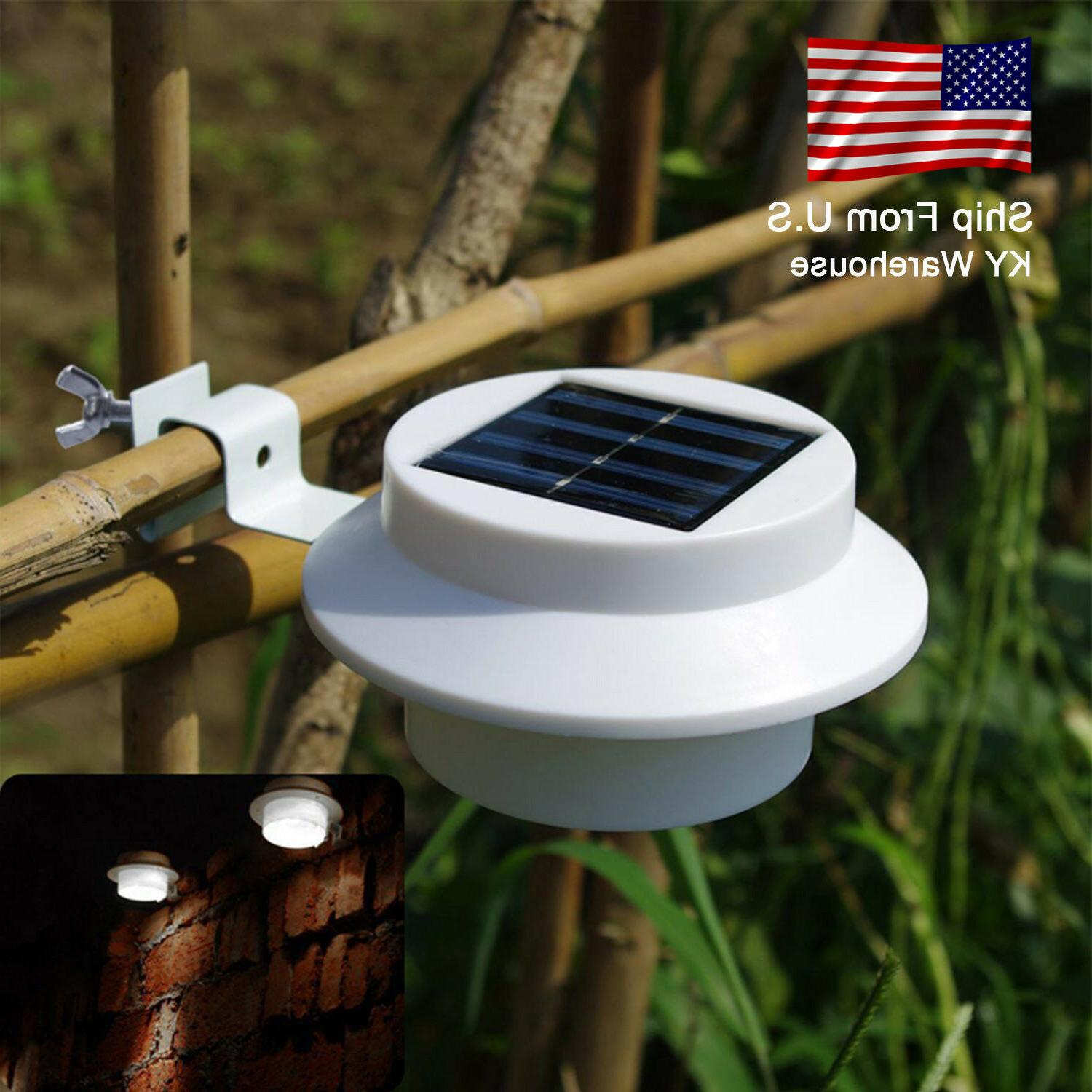 solar power fence lights 3led gutter lights