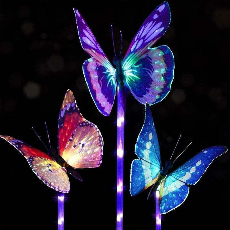 solar power garden stake butterfly outdoor landscape